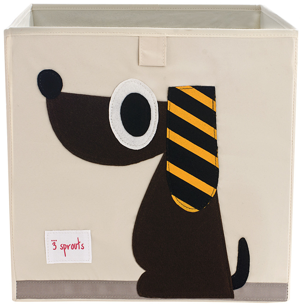 Коробка для хранения игрушек 3 Sprouts «Brown Dog»