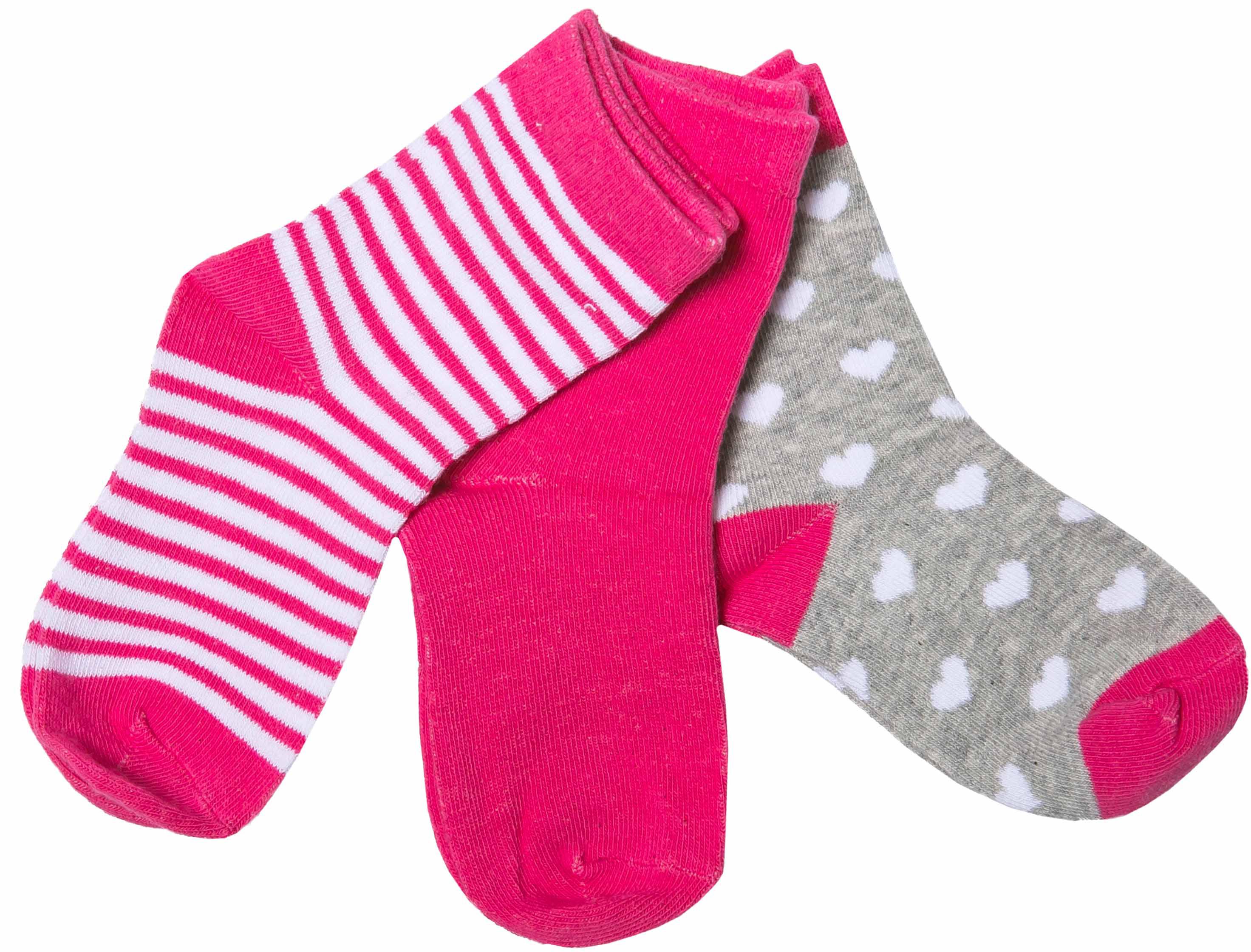 Купить Носки для девочки Barkito, комплект 3 пары, серые с рисунком, малиновые, малиновые с рисунком в полоску, Китай, серый с рисунком, малиновый, малиновый с рисунком в полоску, Женский