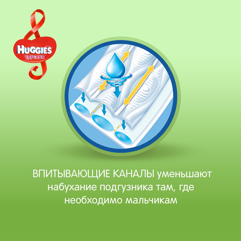 Подгузники-трусики Huggies Трусики-подгузники Huggies для мальчиков 6 (16-22 кг) 44шт. huggies подгузники трусики для мальчиков 16 22 кг размер 6 44 шт