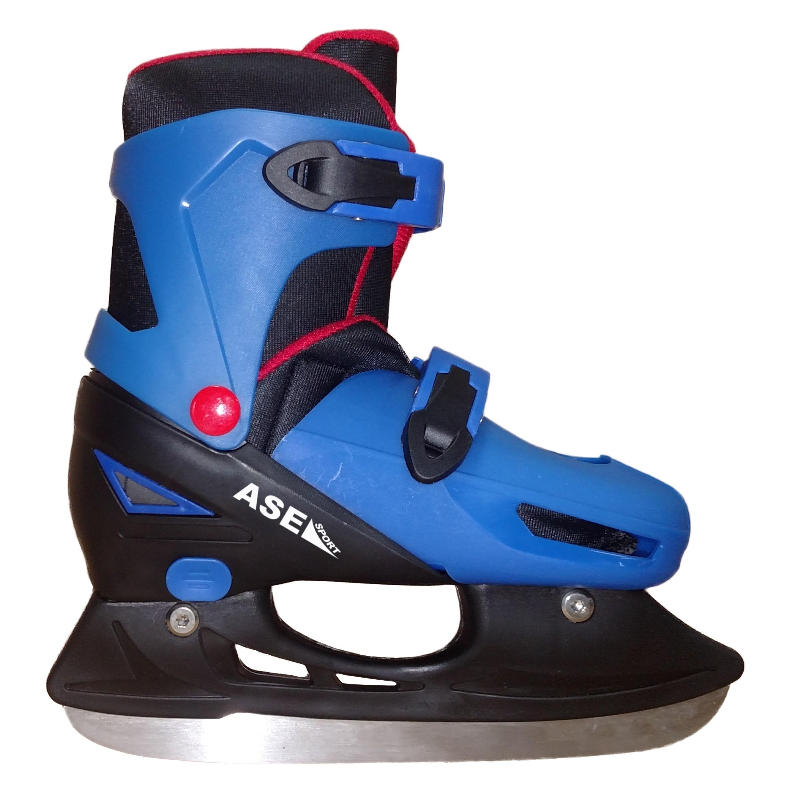 Коньки ASE-SPORT ASE-220 коньки хоккейные раздвижные ase sport ase 211f цвет белый розовый размер 34 37