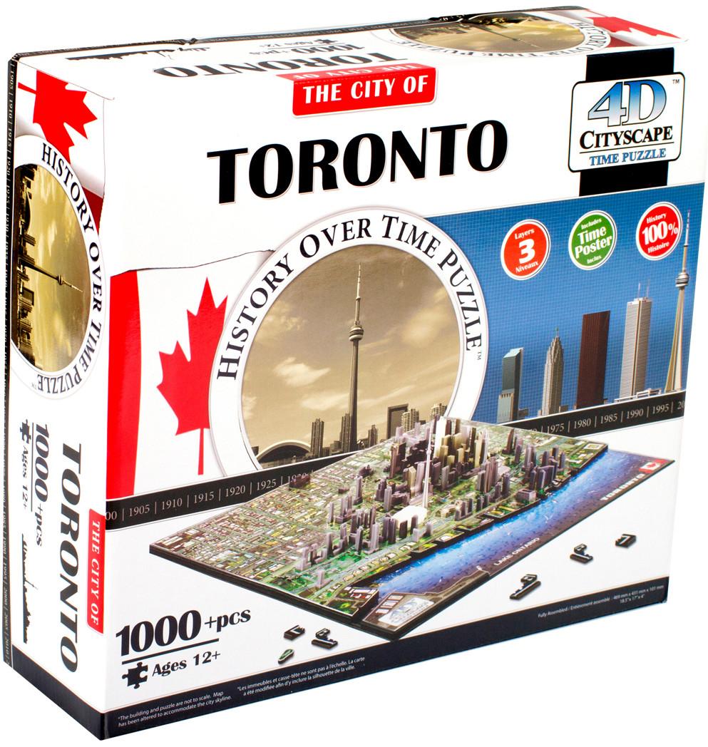 Пазлы 4D Cityscape Пазл 4D Cityscape «Торонто» 1000 дет. объемный наклейки txd 30cmx152cm 4d 4d