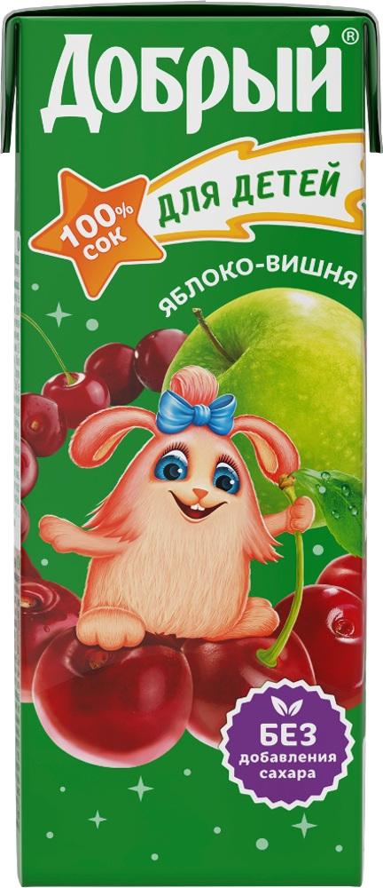 Сок Добрый Яблоко-вишня с 5 мес. 200 мл добрый сок яблоко персик 0 2 л