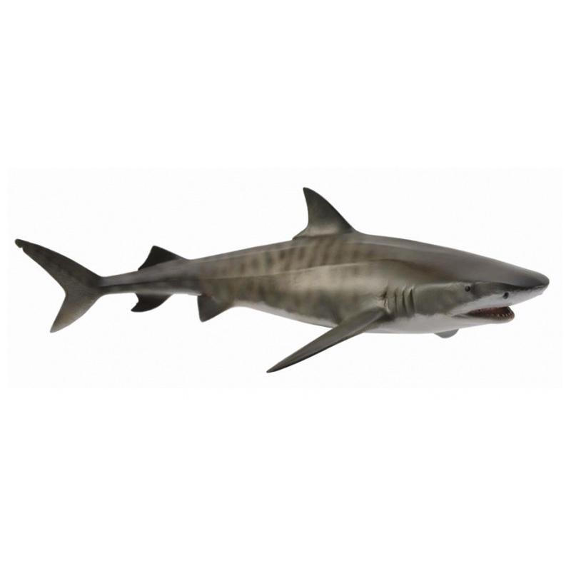 Фигурки животных Collecta Фигурка Collecta «Тигровая акула» 17 см игровые фигурки gulliver collecta лев африканский l