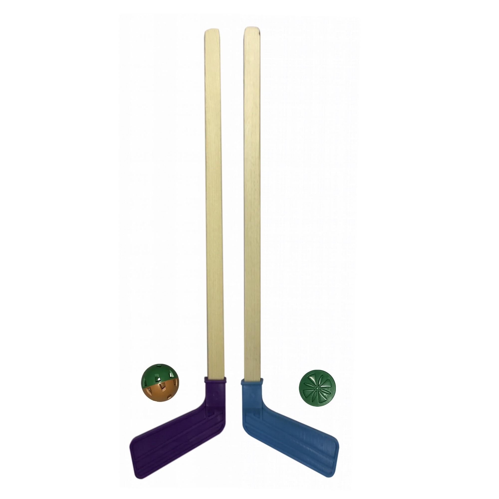 Активные игры ASE-SPORT Игровой набор для хоккея Ase-Sport 2 клюшки, шайба, мячик в асс. шайба для хоккея на льду