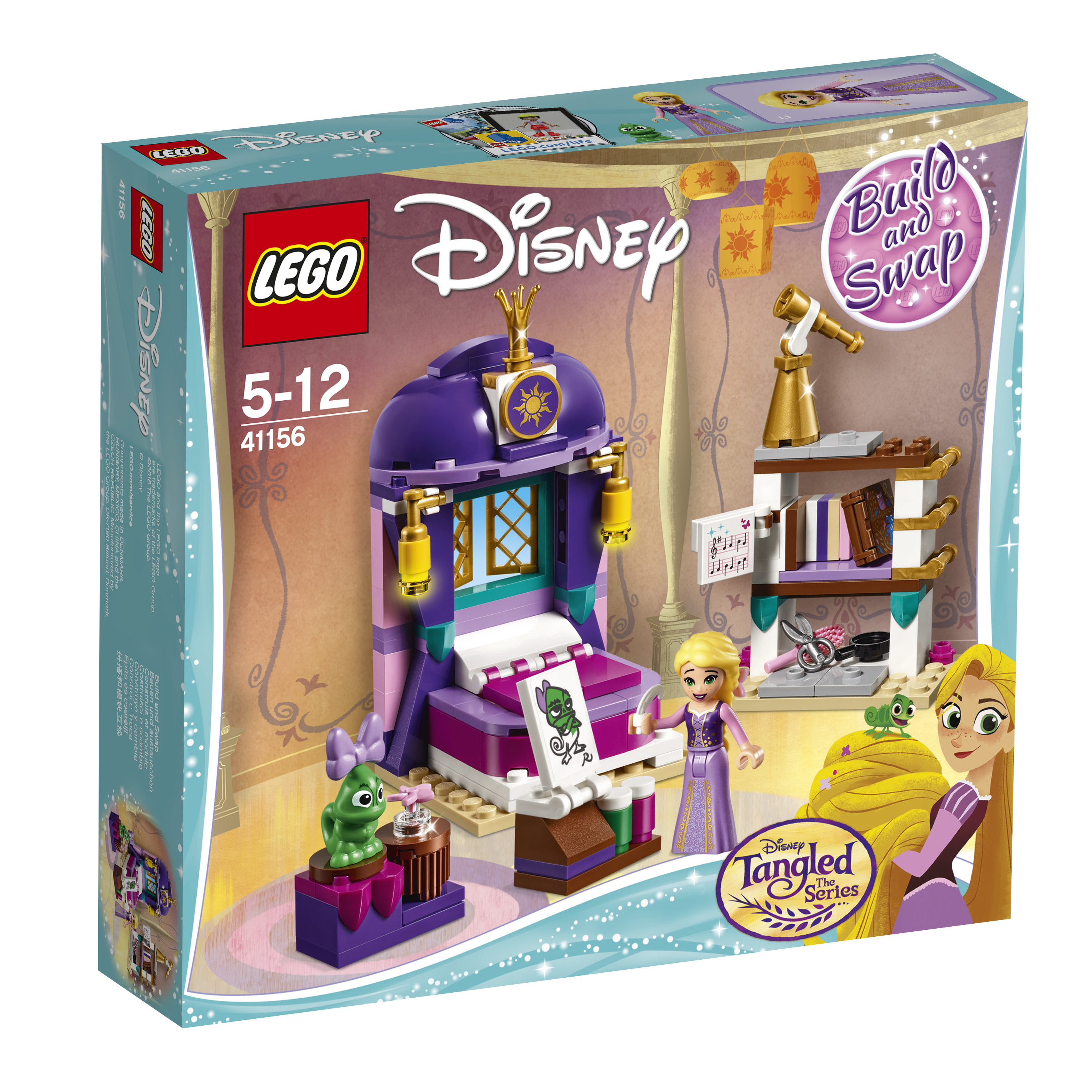 LEGO LEGO Конструктор LEGO Disney Princess 41156 Спальня Рапунцель в замке jady rose vintage black women knee high boots lace up side zip platform high boots thick heel flat martin boot for autumn winter