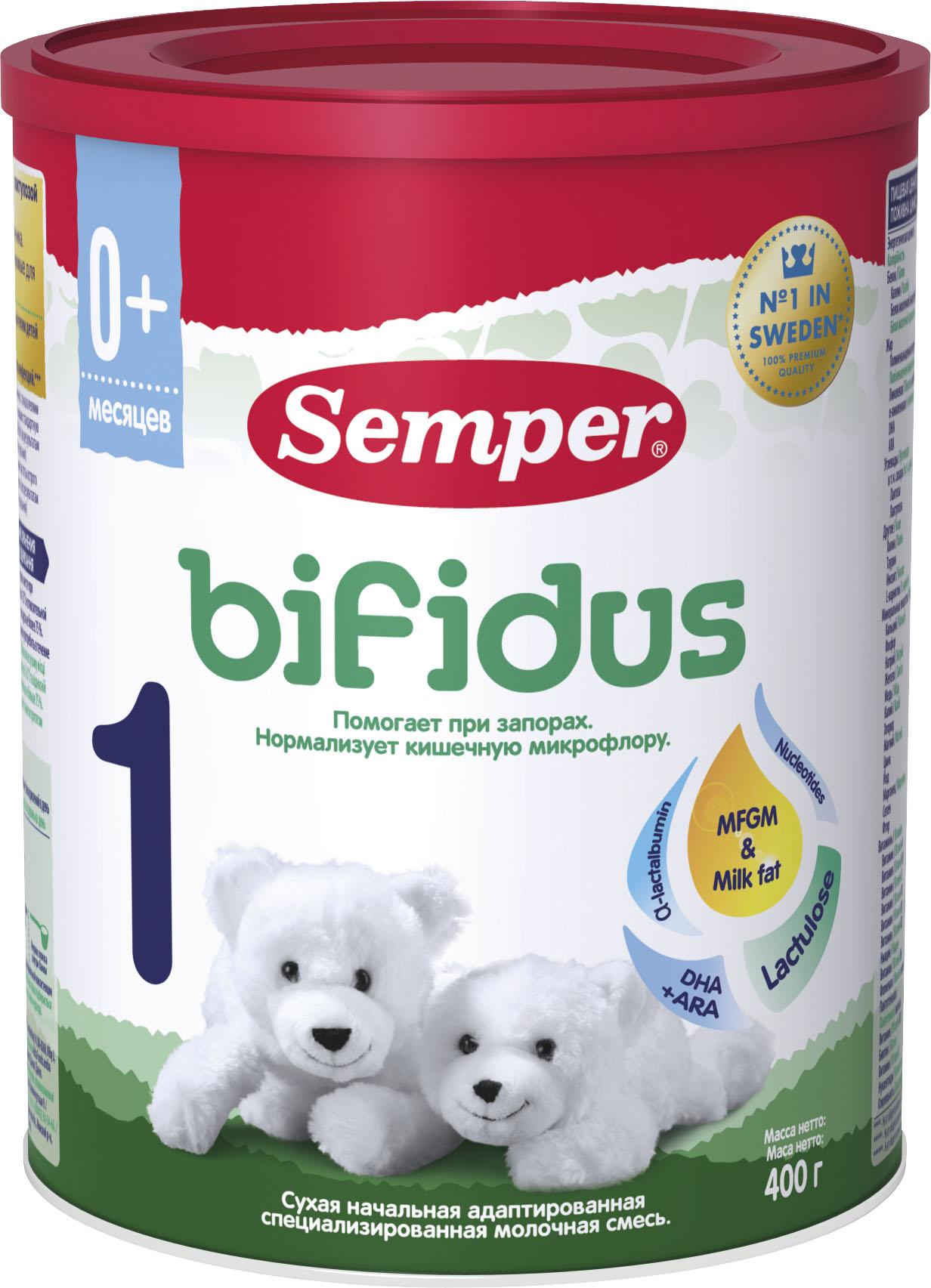 Молочная смесь Semper Semper Bifidus 1 (с рождения) 400 г молочная смесь semper baby nutradefense 1 с рождения 400 г