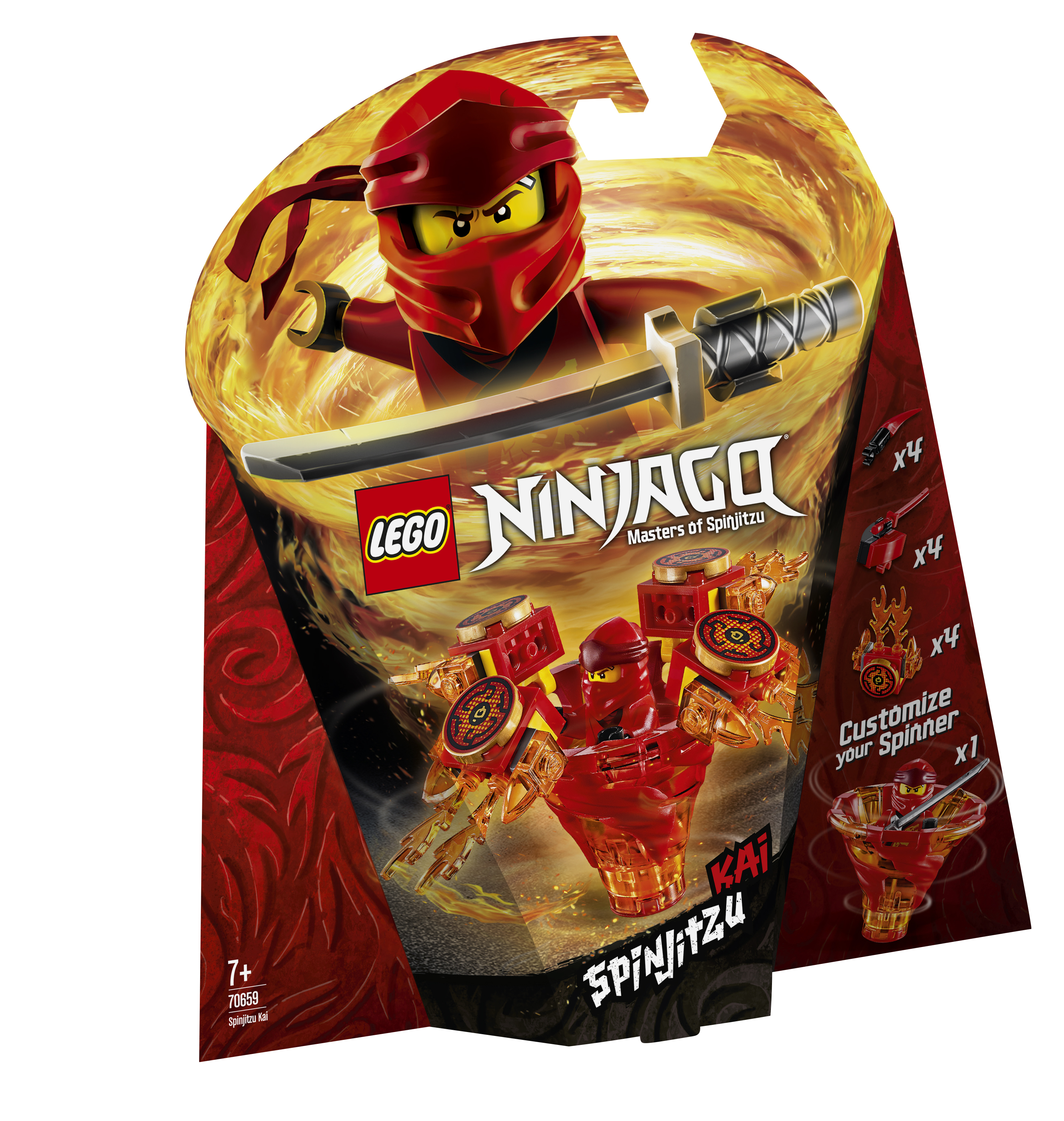 Конструктор LEGO Ninjago 70659 Кай: мастер Кружитцу конструктор lego ninjago 70634 ния мастер кружитцу