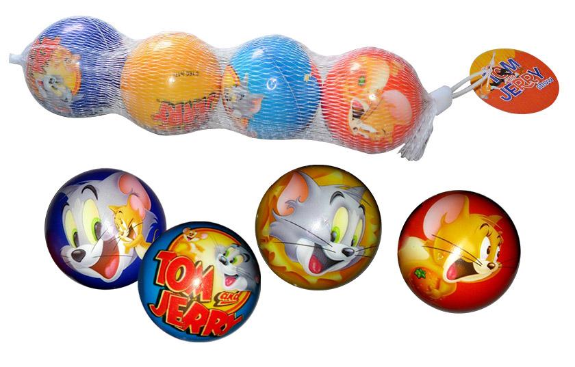 Мячи 1toy Том и Джерри 6 см Т59836 мячи 1toy мячи прыгуны 1toy прозрачные с блёстками 6 5 см в ассортименте