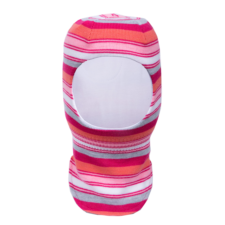 Купить Головные уборы, Шапка-шлем для девочки Barkito малиновый, Россия, малиновый со светло-серым, Женский
