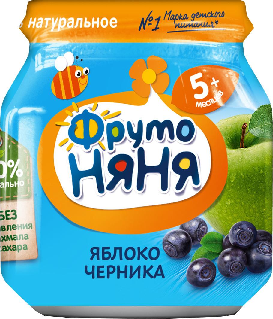 Фруктовое Фрутоняня ФрутоНяня Яблоко и черника (с 5 месяцев) фруктовое фрутоняня фрутоняня ягодный салатик с 5 месяцев 100 г