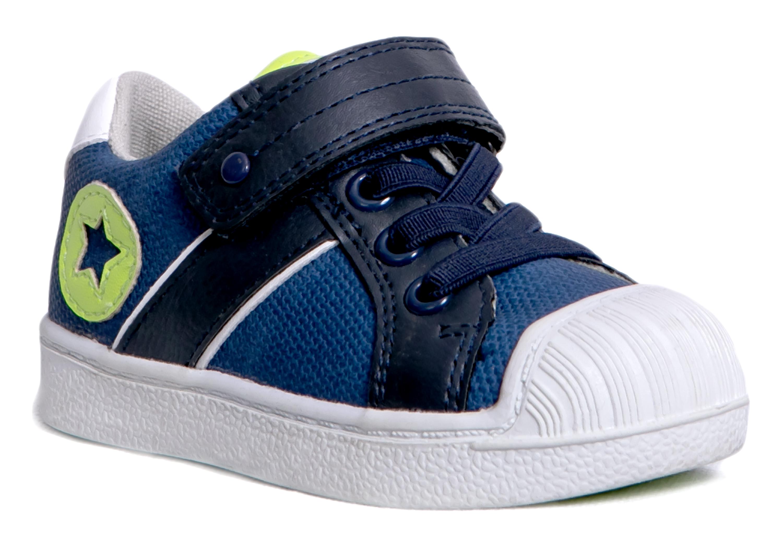 Купить Ботинки и полуботинки, Темно-синие, Barkito, Китай, темно-синий, белый, желтый, Мужской
