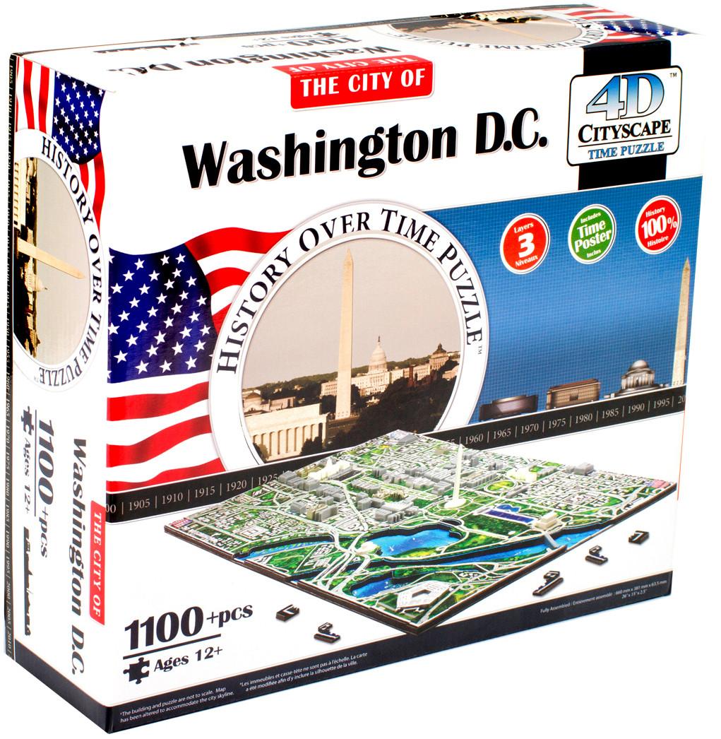 Пазлы 4D Cityscape Пазл 4D Cityscape «Вашингтон» 1100 дет. объемный наклейки txd 30cmx152cm 4d 4d