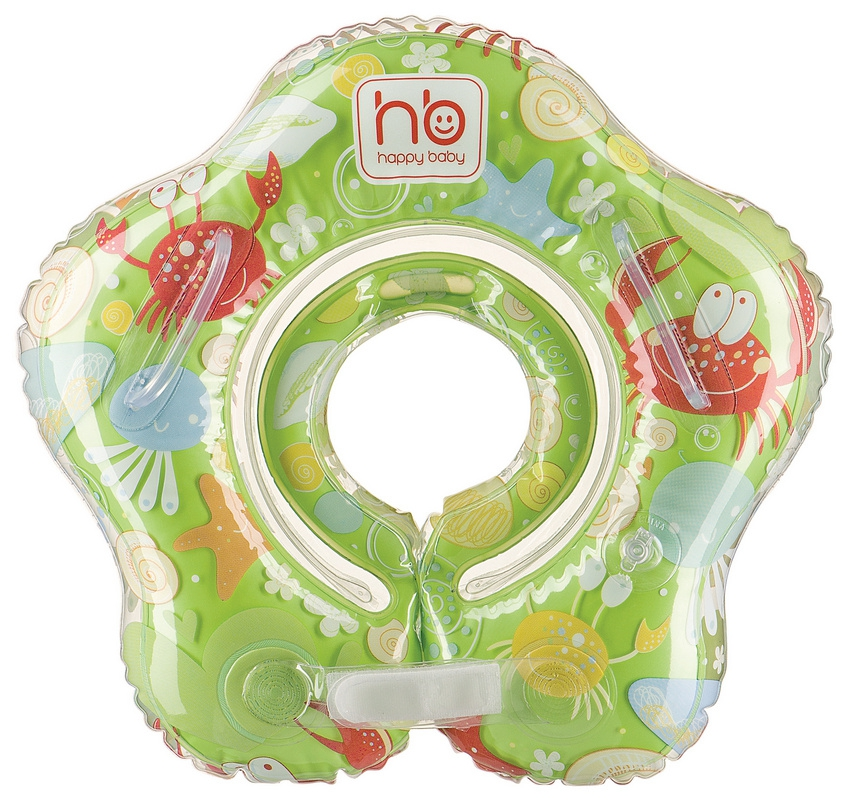 Коврики и круги Happy baby Круг для купания на шею Happy Baby «Swimmer» 0-12 мес. круг надувной baby swimmer 6 36 кг арбуз