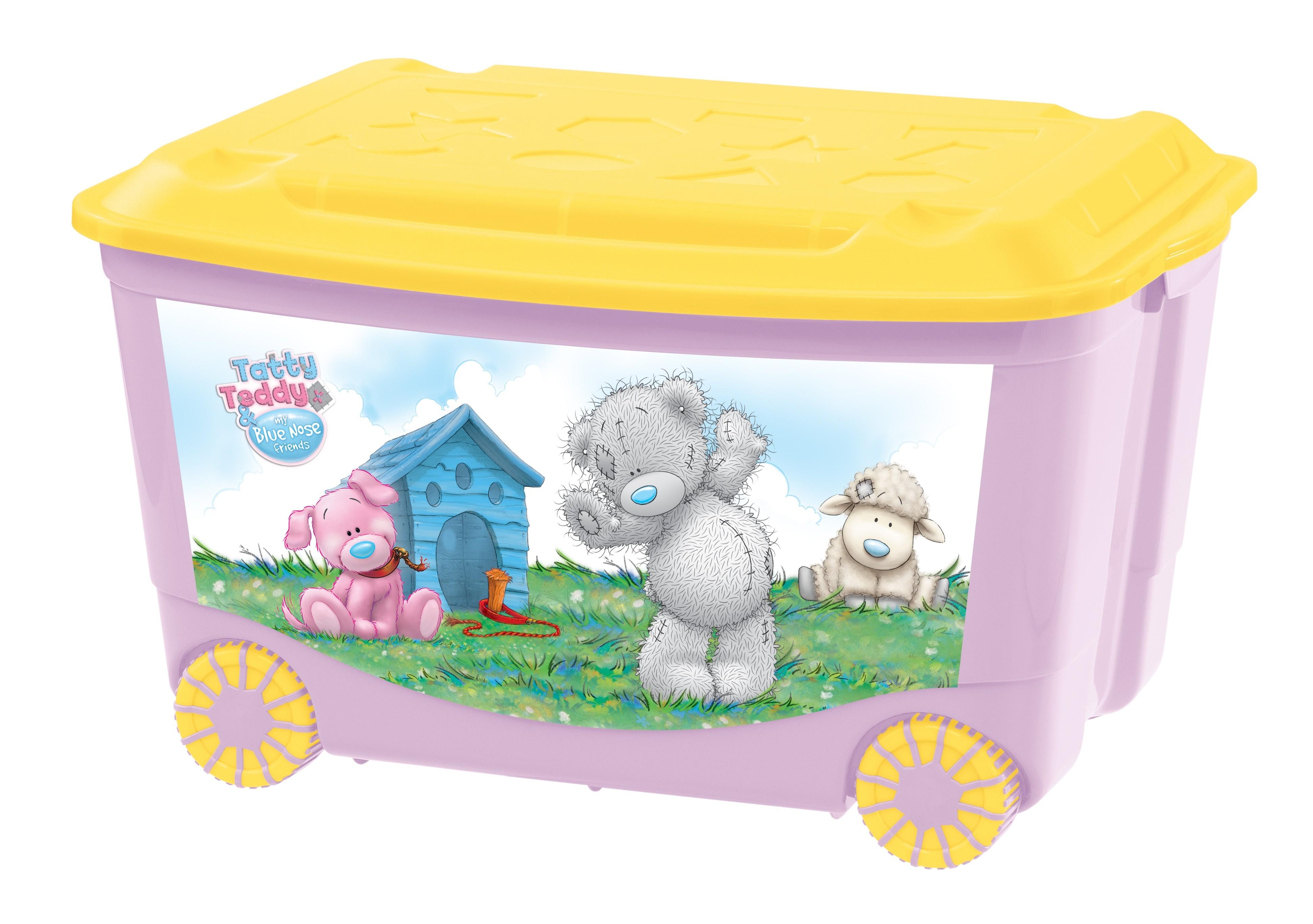 Ящики и корзины для игрушек Me to you Ящик для игрушек Me to you на колесах розовый 50 л ящик для игрушек me to you розовый 8 4 л