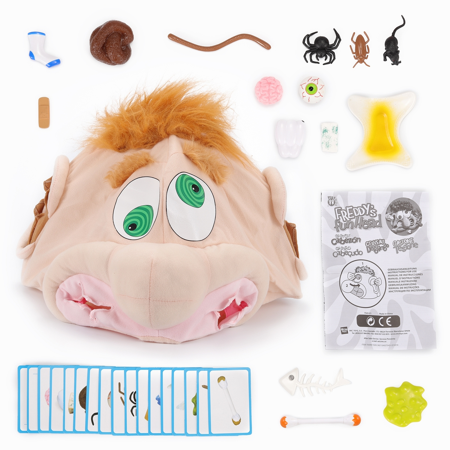 Развивающие и обучающие IMC toys Freddy's fun Head new man silicone vagina real aircraft cup male masturbator small artificial pocket pussy penis pump toys adult fun sex products for men