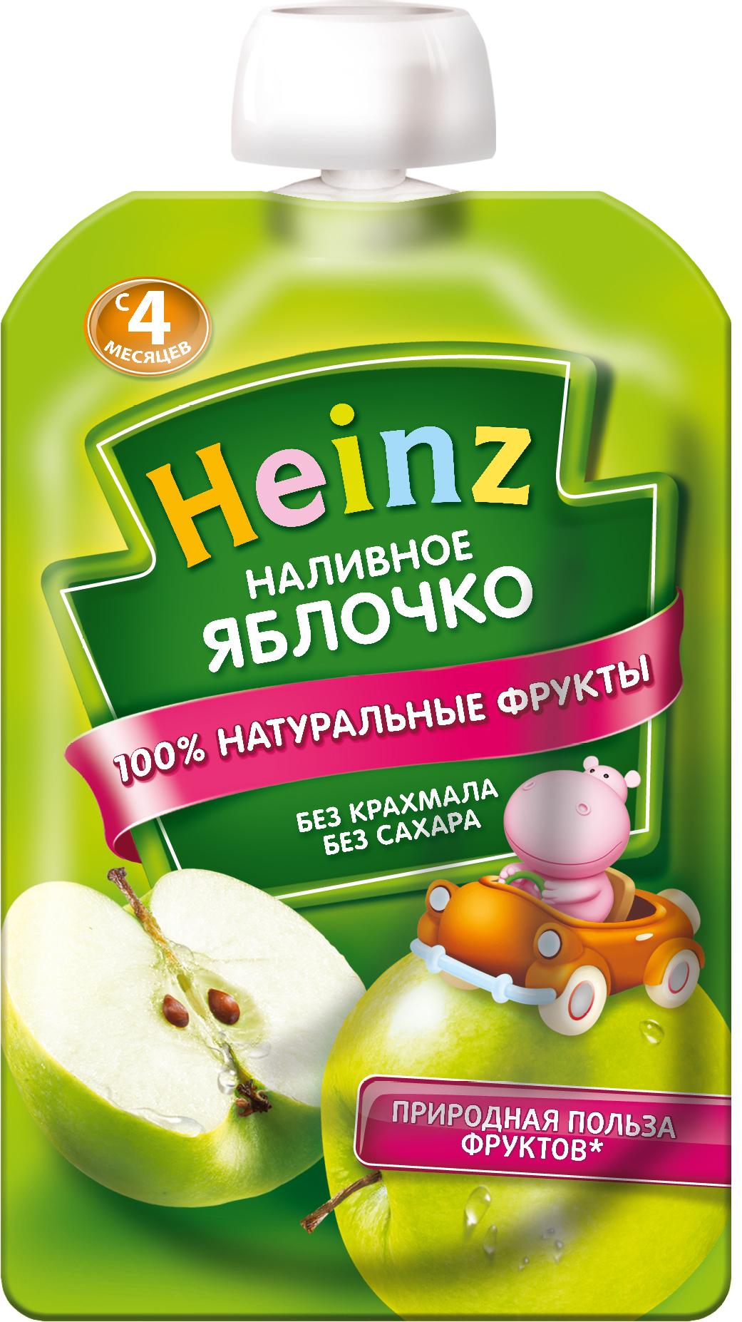 Фруктовое Heinz Heinz Наливное яблочко (с 4 месяцев) 100 г karl heinz bohle dresden in farbe