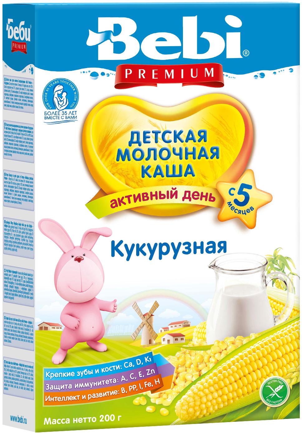Каши Bebi Bebi Молочная кукурузная (с 5 месяцев) 200 г каши bebi молочная каша premium 7 злаков с 6 мес 200 г