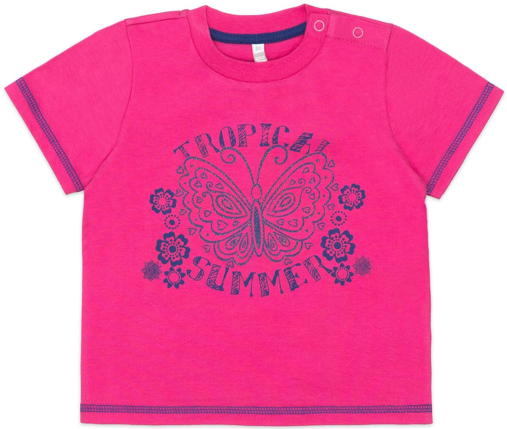 Купить Футболки, Футболка с коротким рукавом для девочки Barkito Цветочное лето красная, Узбекистан, красный, Женский