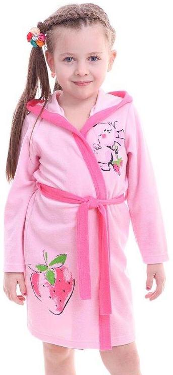Халаты Свiтанак Халат для девочки Свiтанак, светло-розовый халаты банные lelio халат