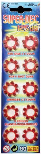 Набор пистонов Edison Giocattoli 80 шт 7080 игровой набор gonher ковбойский набор револьвер пластмассовый на 8 пистонов звезда шерифа 204 0
