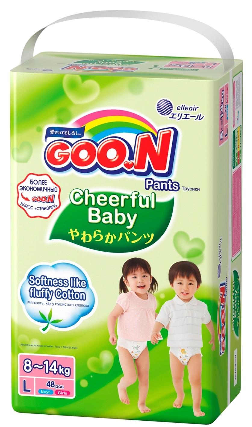 Трусики-подгузники Goon Goo.N «Cheerful Baby» L (8-14 кг) 48 шт. подгузники goon s 4 8 кг 84шт