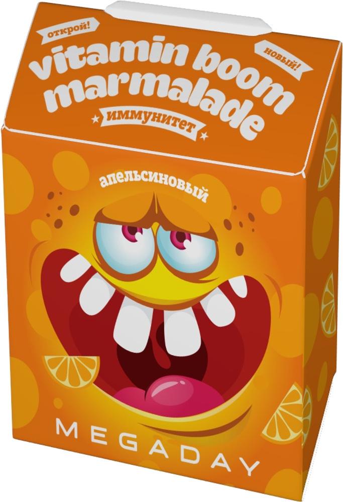 Жевательный мармелад Megaday Иммунитет со вкусом апельсина 20 г флэксичипс крекеры льняные натуральные со вкусом томата 100 г