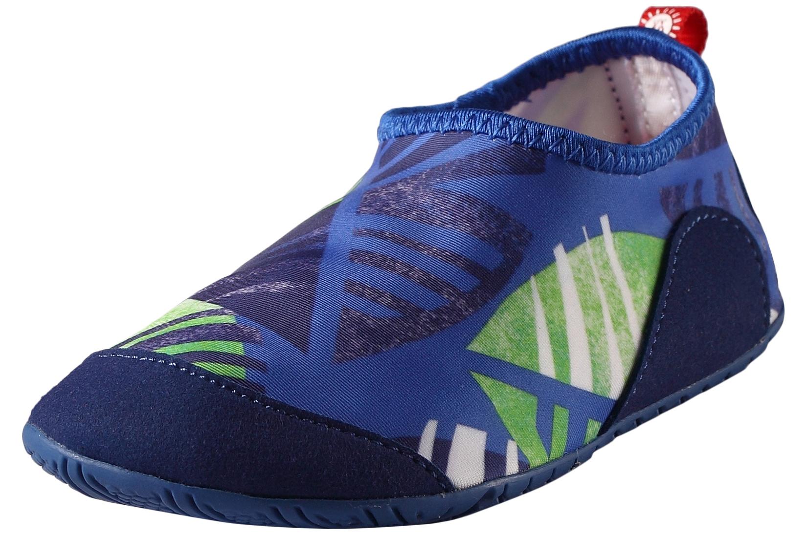 Сланцы (пляжная обувь) Reima Тапки для мальчика Reima, синие тапочки burlesco тапки