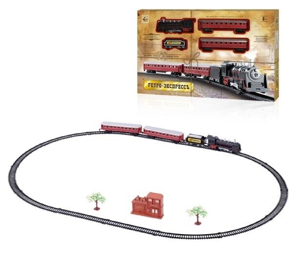 Железные дороги и паровозики 1toy Ретро Экспресс Т10147 железные дороги shantou gepai железная дорога восточный экспресс