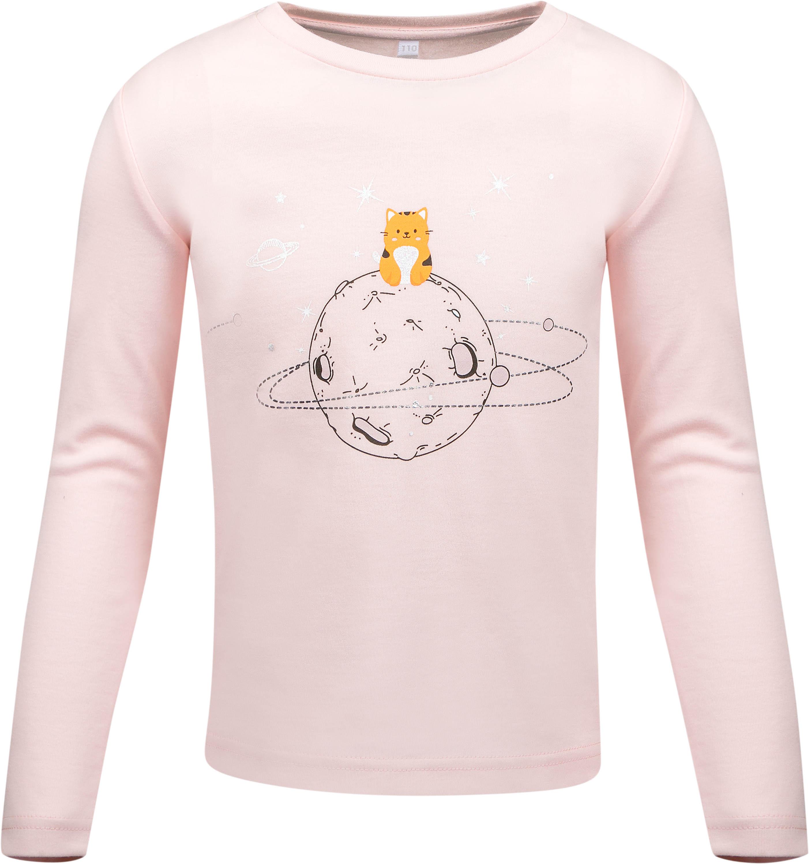 Футболка с длинным рукавом для девочки Barkito Галактика светло-розовая толстовки barkito галактика