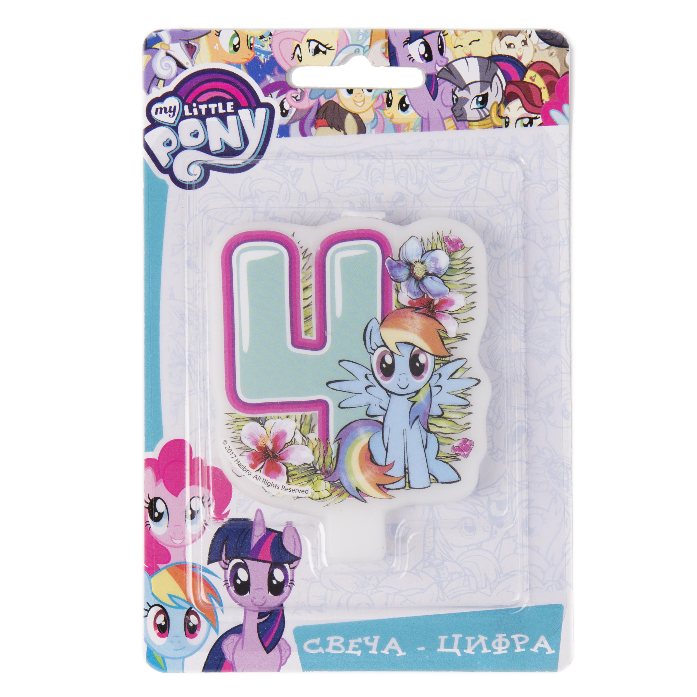 цена на Свеча My Little Pony «Цифра 4»