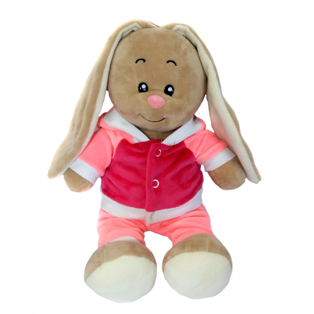 Мягкие игрушки СмолТойс «Зайка-милашка» в спортивном костюме 30 см мягкая игрушка смолтойс зайка даша 53 см