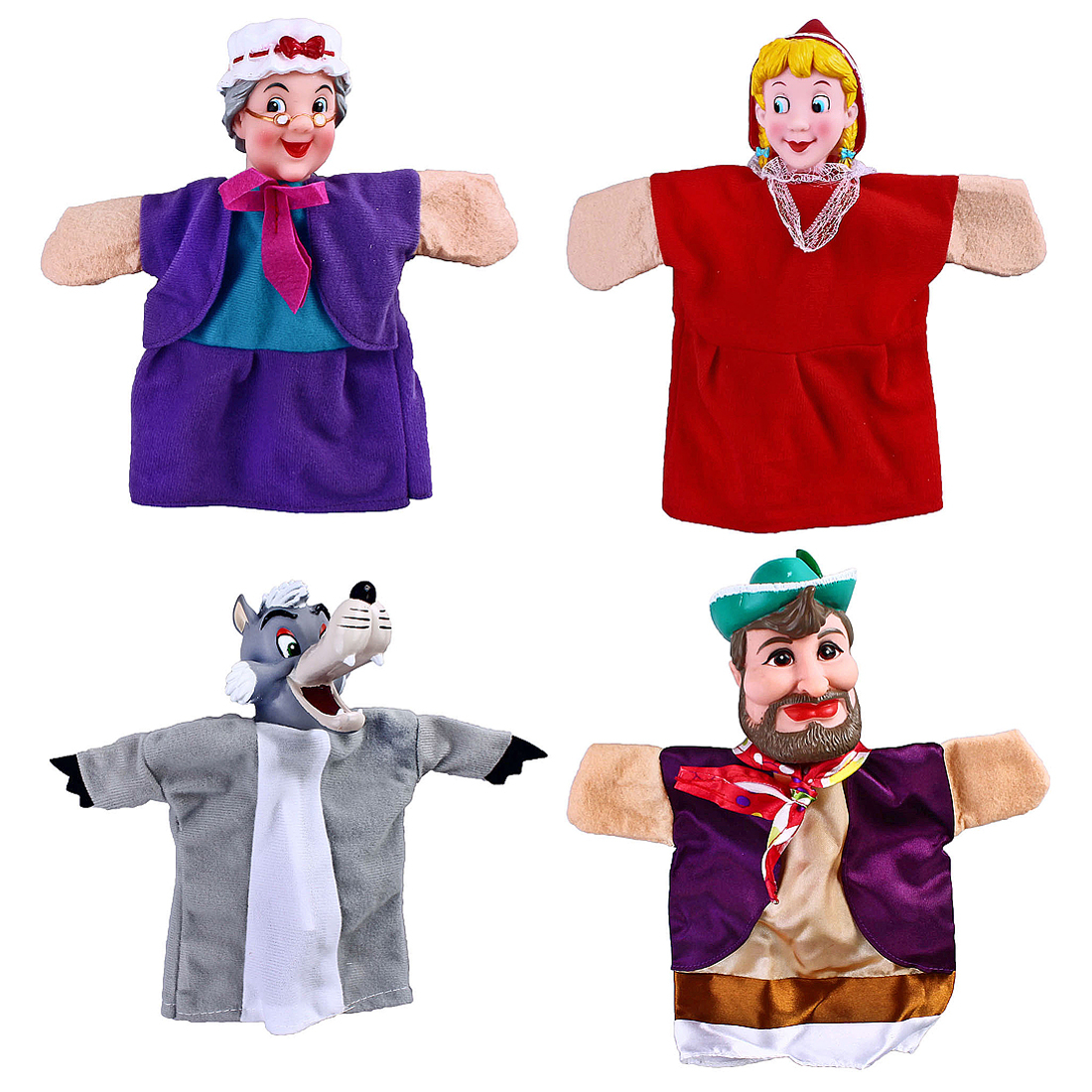 Развивающие игрушки Жирафики Кукольный театр Жирафики «Красная шапочка» 4 куклы анданте кукольный театр красная шапочка