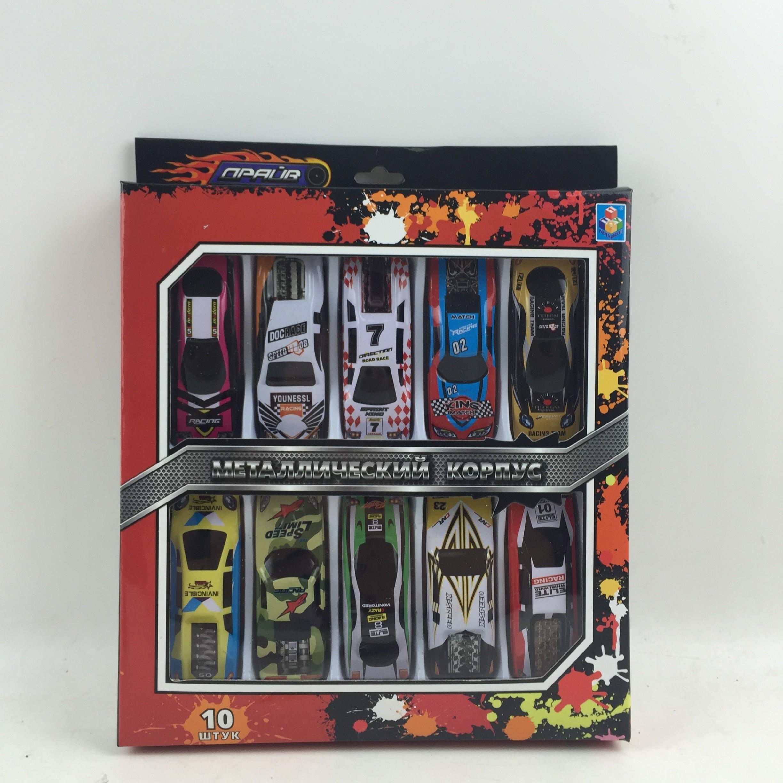 Набор машинок 1toy Драйв Street Race 10 шт Т10343 игрушка dickie toys набор машинок 3745000