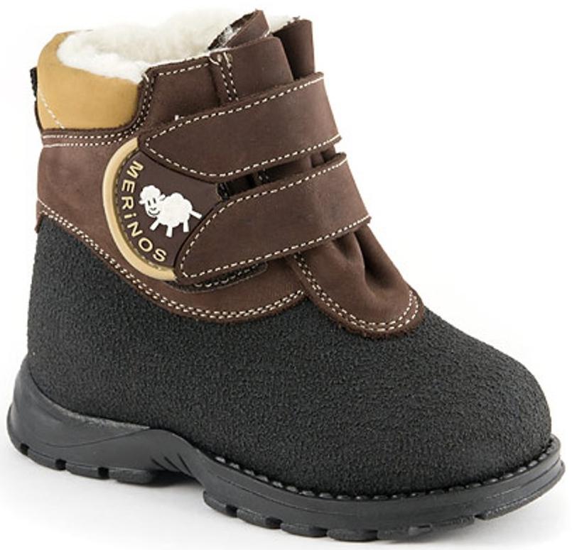 Ботинки и полуботинки Детский Скороход Ботинки ясельно-малодетские для мальчика Детский Скороход, коричнево-черные elegami elegami ботинки для мальчика в школу черные