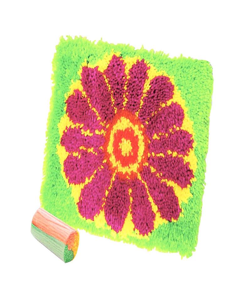 Наборы для творчества ДЕЛАЙ С МАМОЙ Набор для вышивания Делай с мамой «Коврик цветок» канва с рисунком для вышивания бисером hobby