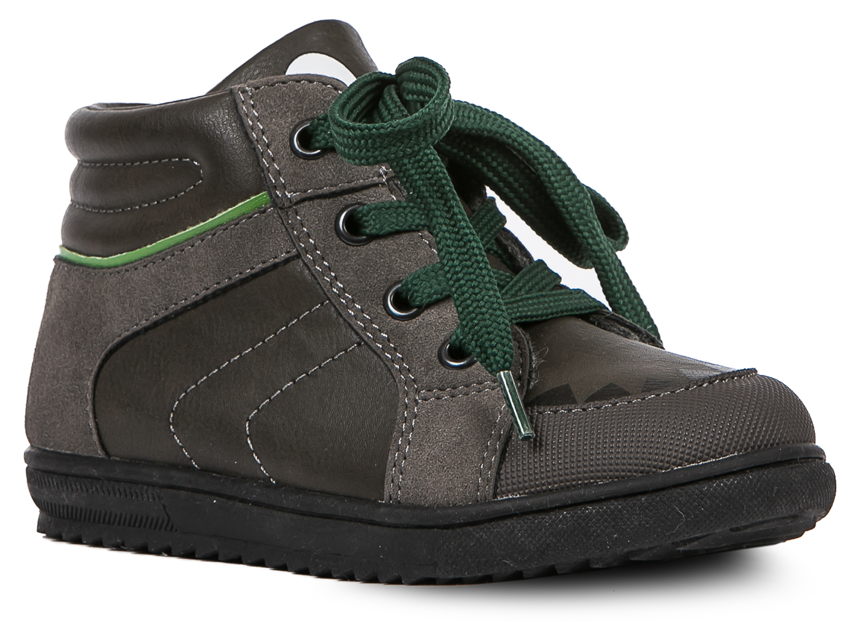 Ботинки и полуботинки Barkito Ботинки для мальчика Barkito, темно-серые 12storeez ботинки с резинкой из замши темно серые