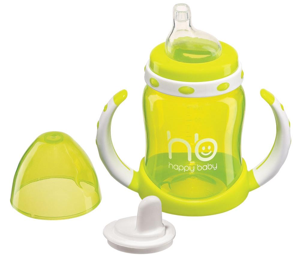 Поильник Happy baby с двумя тренировочными клапанами 180 мл