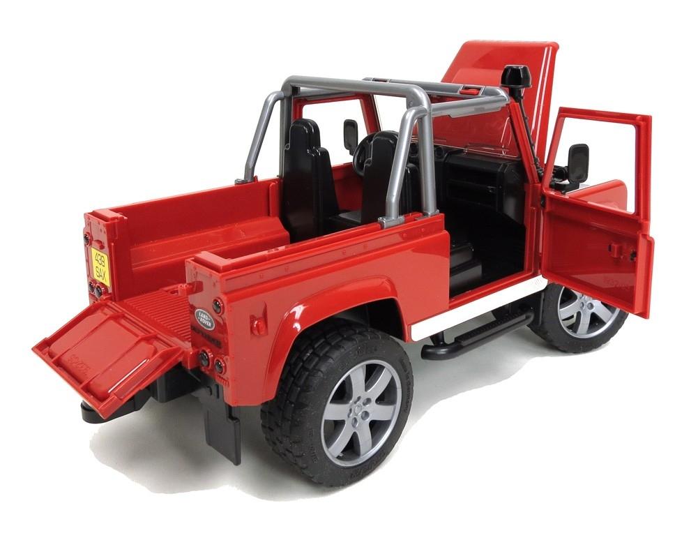 Машина Bruder «Внедорожник-пикап Land Rover Defender» bruder внедорожник land rover defender полиция с фигуркой bruder