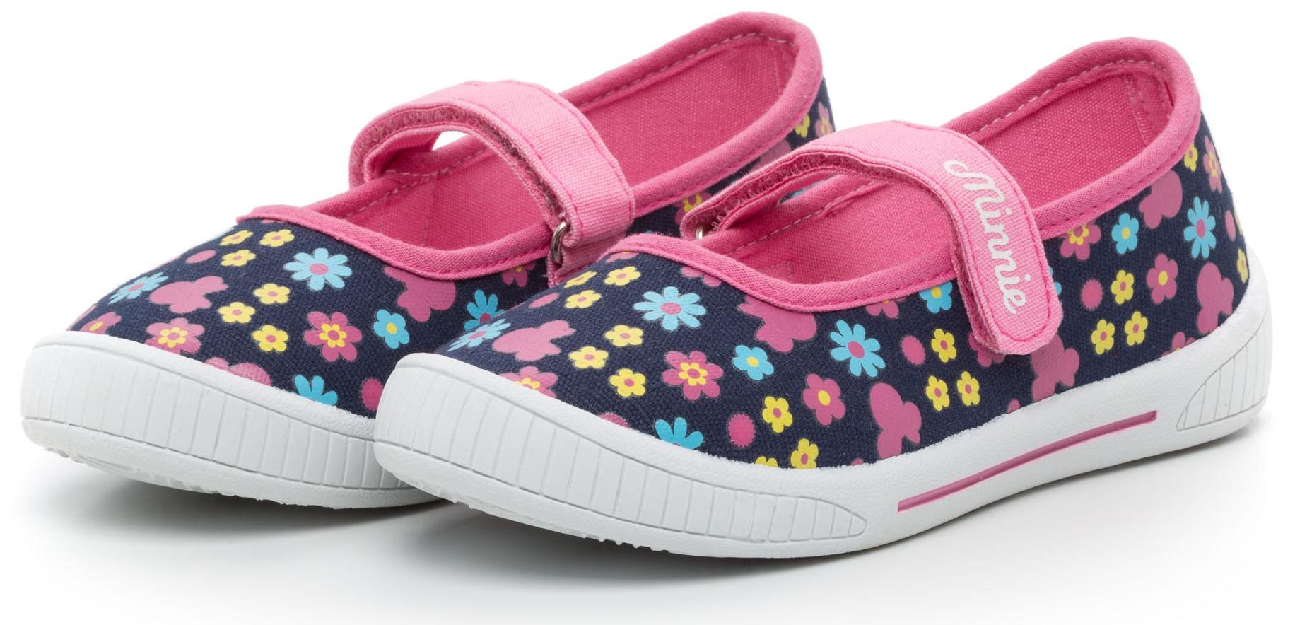 Туфли Disney minnie Туфли для девочки Disney Minnie, синие с рисунком