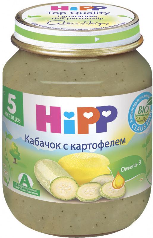 Пюре HIPP HiPP Кабачок с картофелем (с 5 месяцев) 125 г пюре hipp кабачок с картофелем с 5 мес 125 г