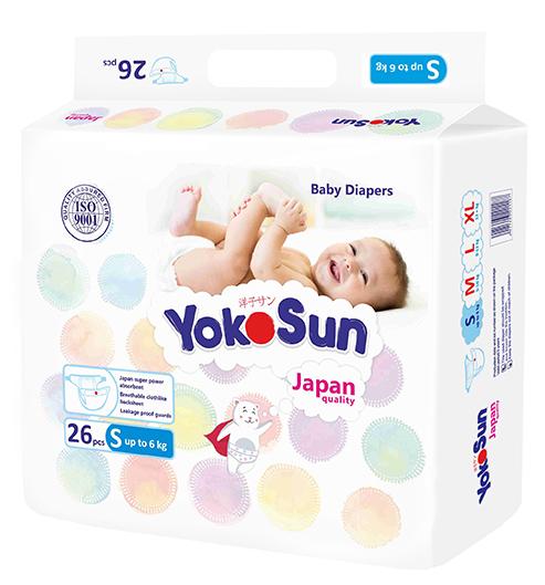 где купить Подгузники YokoSun Подгузники YokoSun S (до 6 кг) 26 шт. дешево