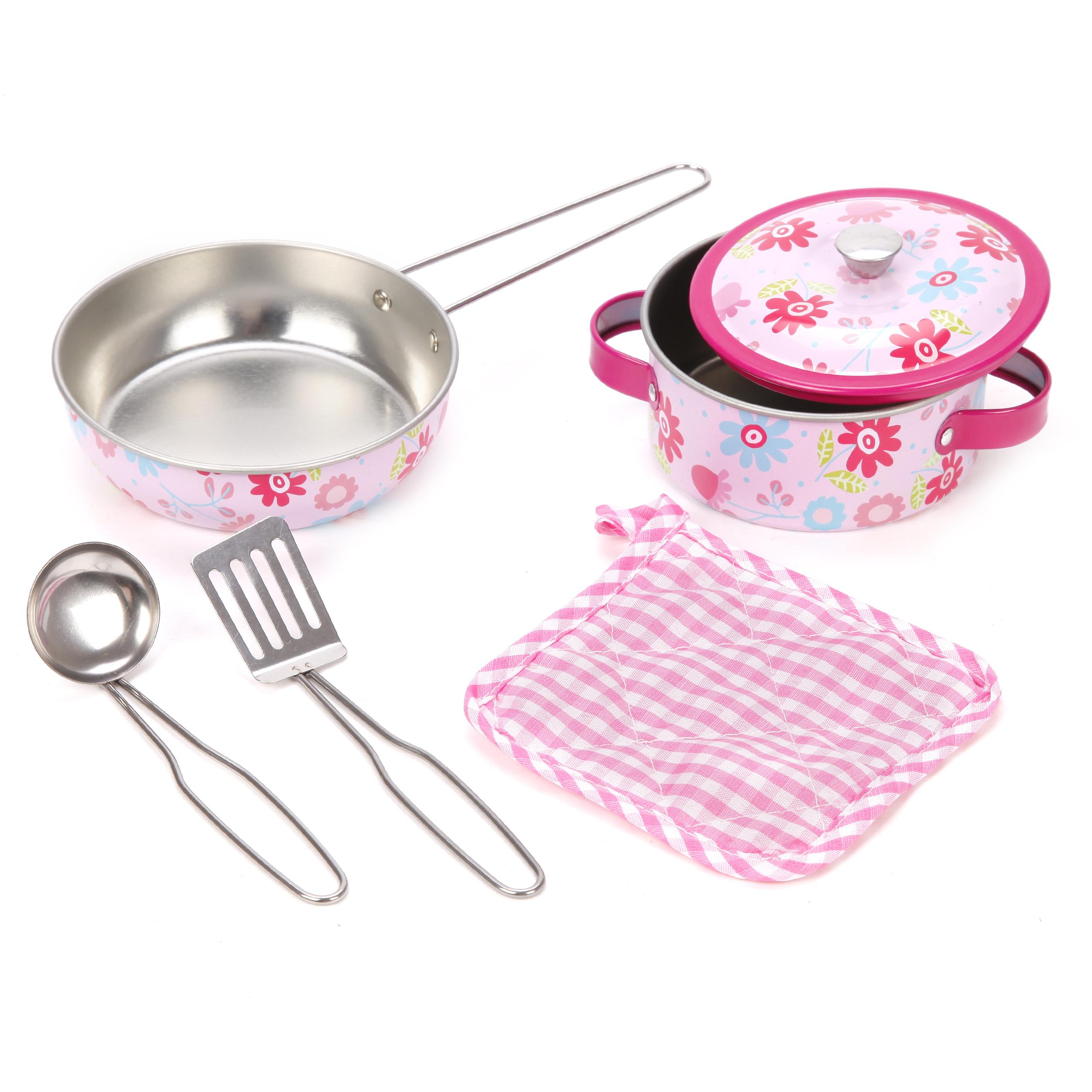 Игровой набор металлической посуды Mary Poppins Цветы мешок для обуви mary poppins с ручками цветы