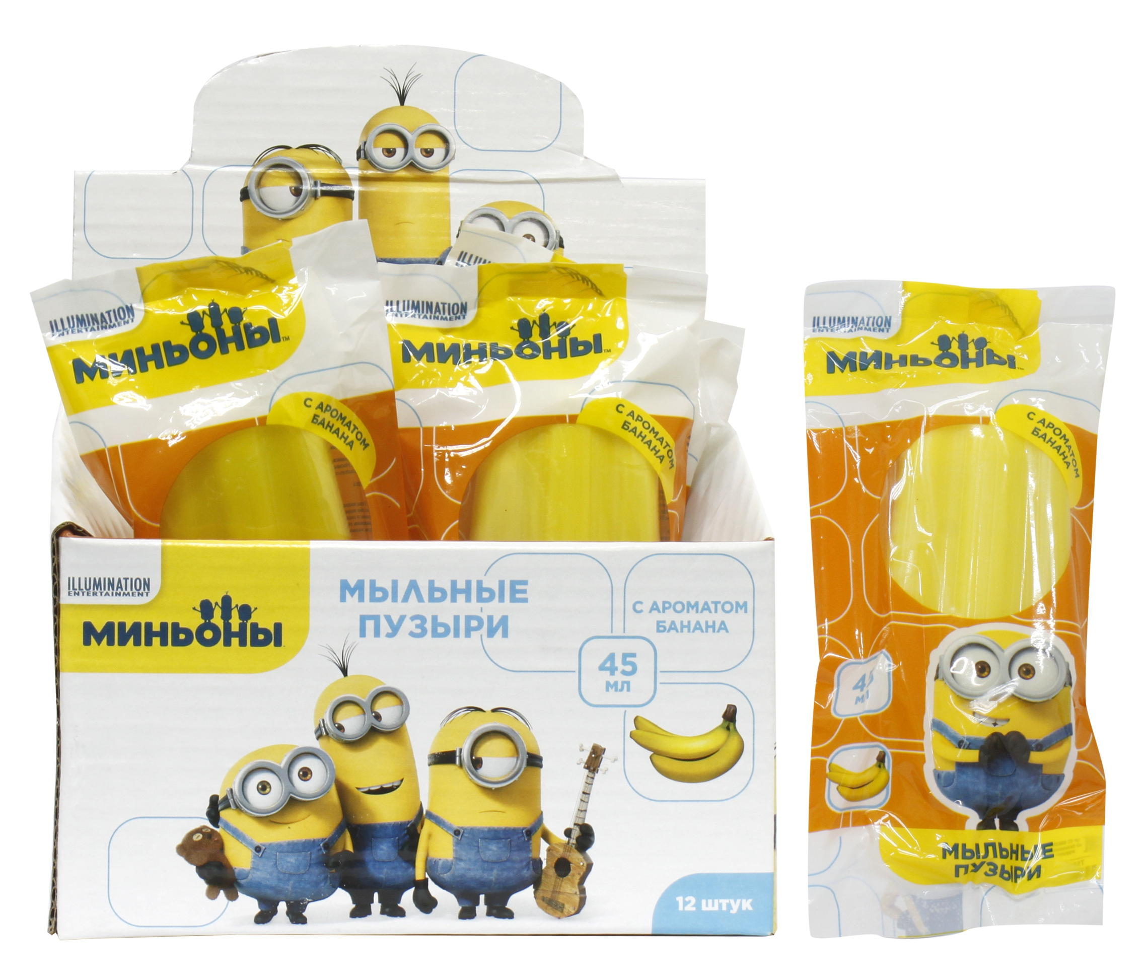 Мыльные пузыри 1toy Minions Эскимо на палочке с ароматом банана 45 мл. brand genuine amittari wet film thickness comb thickness gauge meter tester 25 2032um 1 80mil paint coating