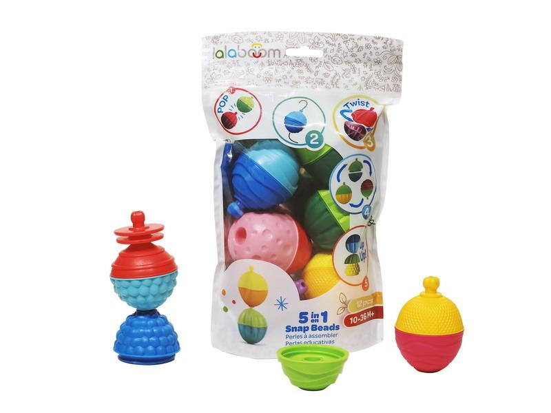развивающие игрушки Развивающая игрушка LalaBoom 12 предметов