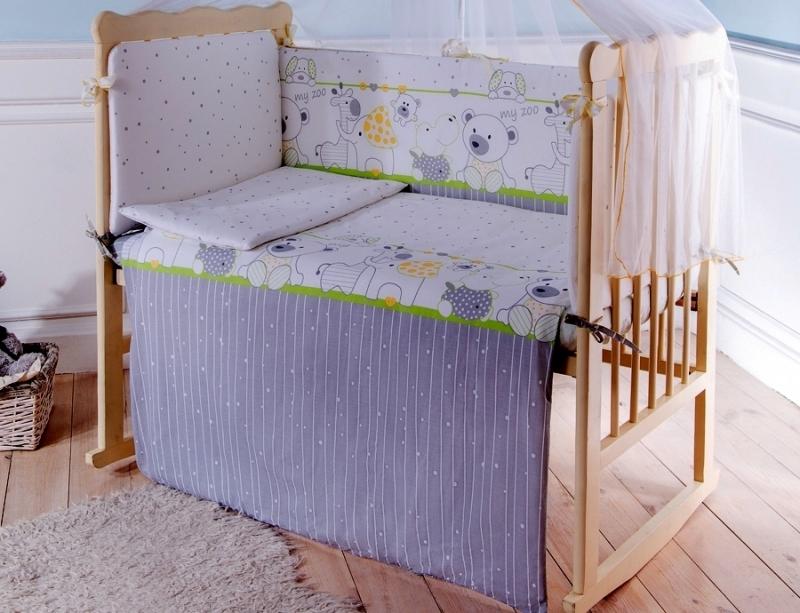 Комплект в кроватку Луняшки Мой зоопарк 6 предметов
