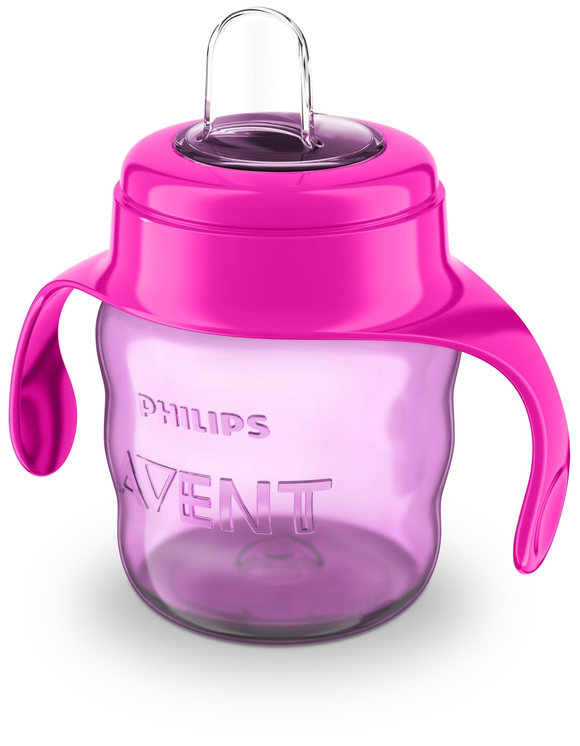 Чашки и поильники Philips AVENT Чашка-непроливайка Philips Avent «Comfort» с 6 мес. 200 мл розовая avent philips 4 в 1