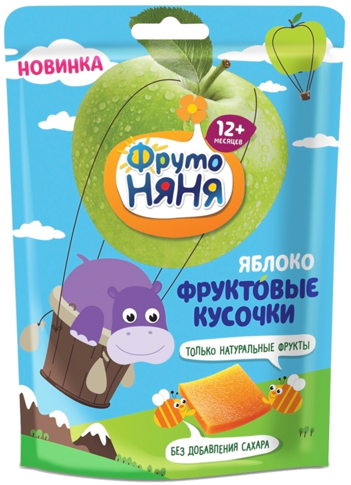 Фруктовые кусочки Фрутоняня Яблоко с 12 мес. 53 г