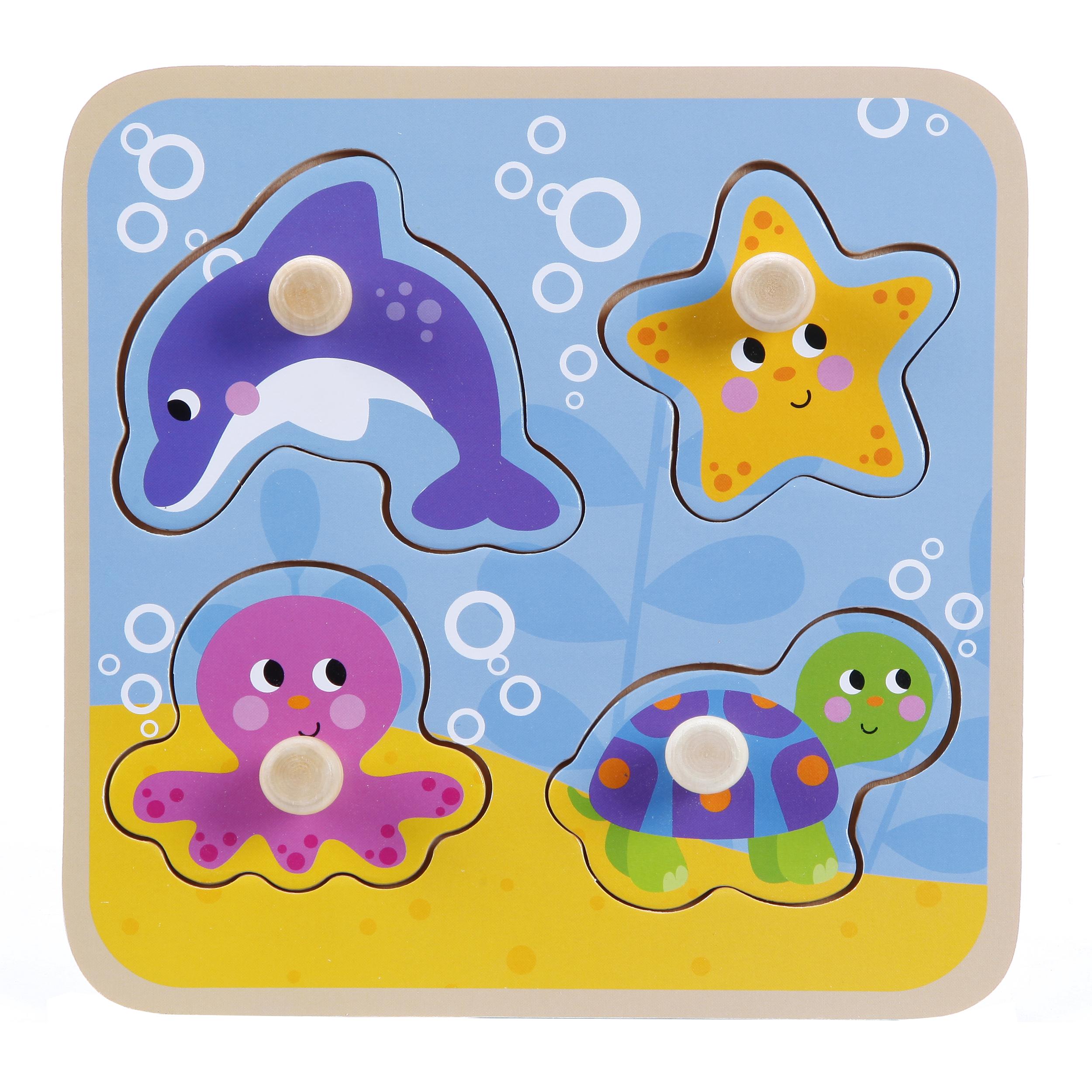 Деревянные игрушки Mapacha Вкладыши Mapacha «Море» деревянные игрушки mapacha кубик радужный 3 в 1