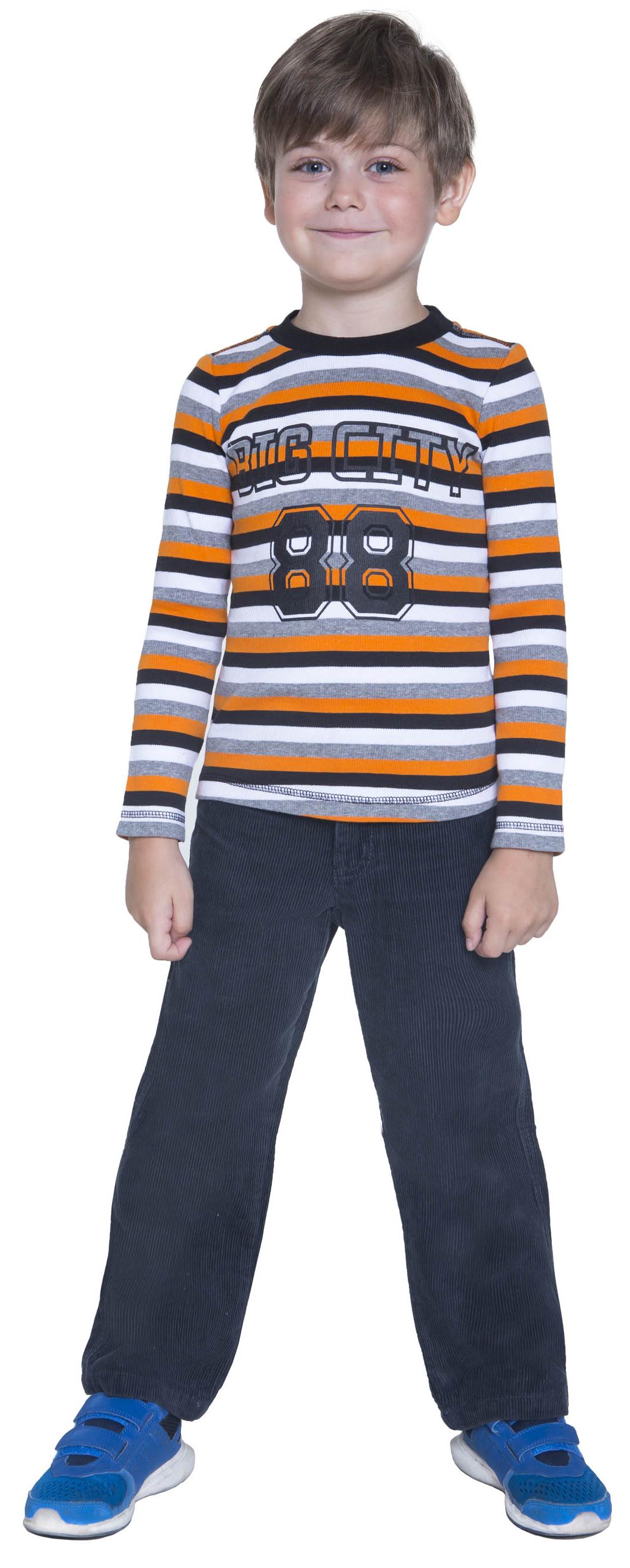 Футболки Barkito Футболка с длинным рукавом для мальчика Barkito, Сити, белая с рисунком полоска футболки barkito футболка с длинным рукавом для мальчика barkito монстр трак синяя