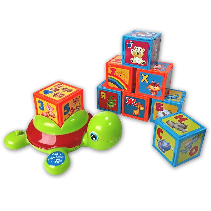 Развивающая игрушка Азбукварик Черепашка Умняшка музыкальная игрушка в виде черепашки с кубиками черепашка умняшка с кубиками